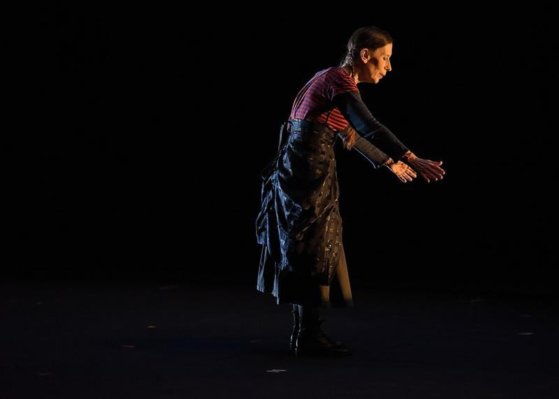 """KC 235: Today's composer, Meredith Monk. This picture is from """"On Behalf of Nature"""" performed at the Brooklyn Academy of Music in 2014. Interlochen Public Radio - classical music for kids!"""