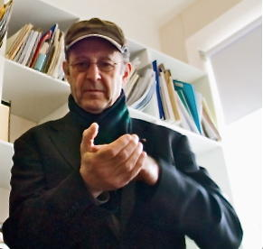 """KC 238: Today's composer, Steve Reich. He's performing """"Clapping Music"""" with musician Ian Oliver (not pictured). Interlochen Public Radio - classical music for kids!"""