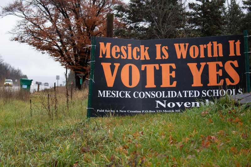 Despite signs around Mesick supporting the school bond, it failed for the third time.