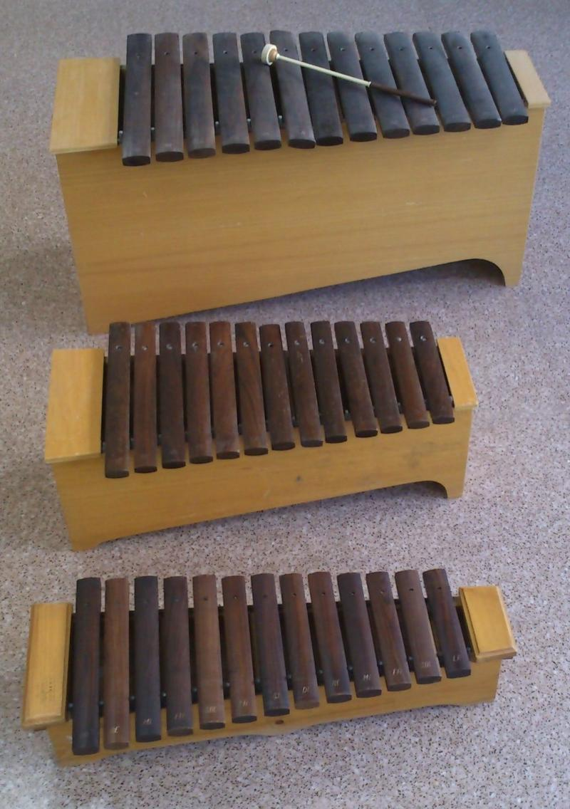 "KC 261: Xylophones and marimbas are commonly used while learning Orff ""Schulwerk"" music."