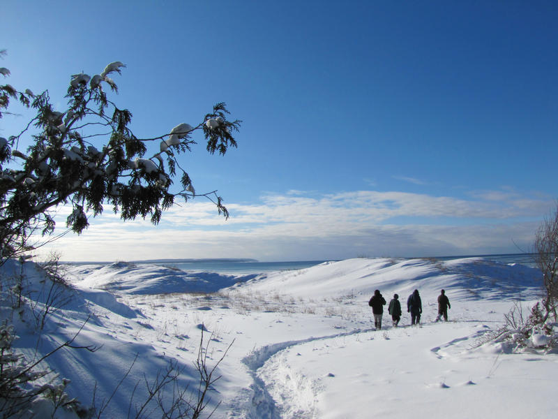 Snowshoeing at the Sleeping Bear Dunes National Lakeshore