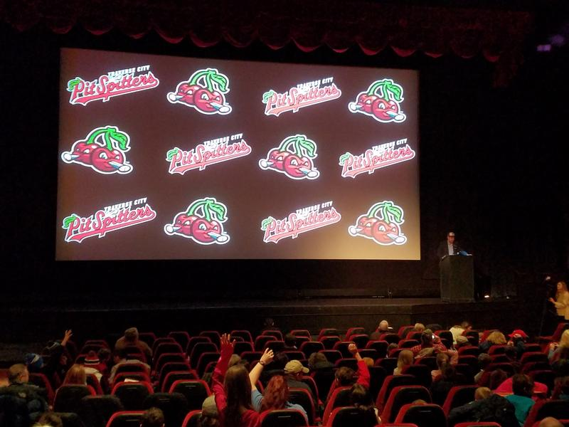 The Traverse City Pit Spitters revealed the baseball team's new name and logo Tuesday morning at the State Theatre.