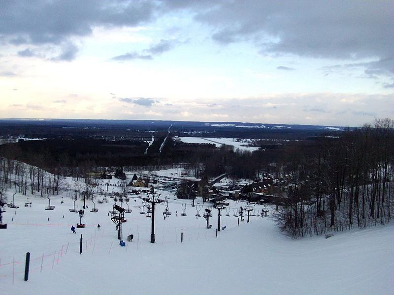 The view from atop Crystal Mountain