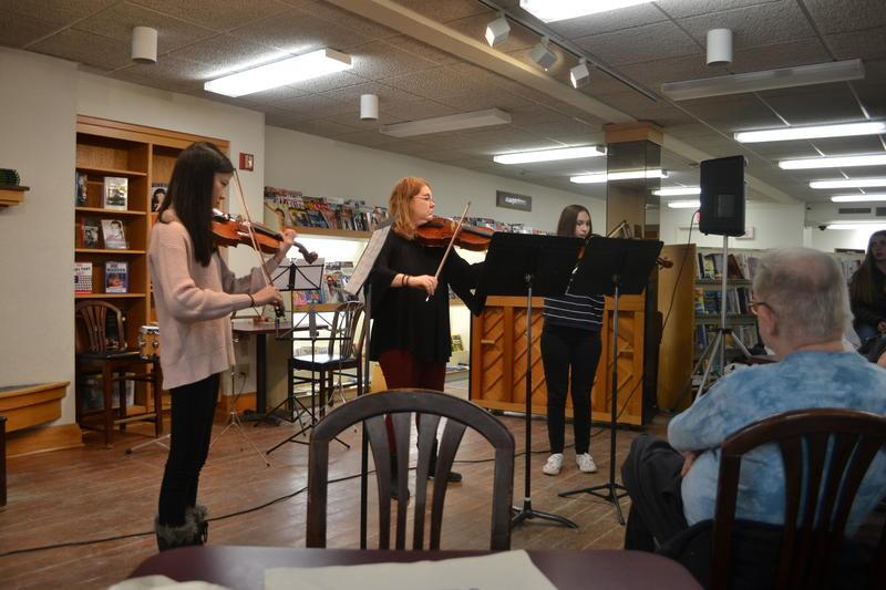 Malia Dickinson, Kim Teachout and Adelaide Dalio