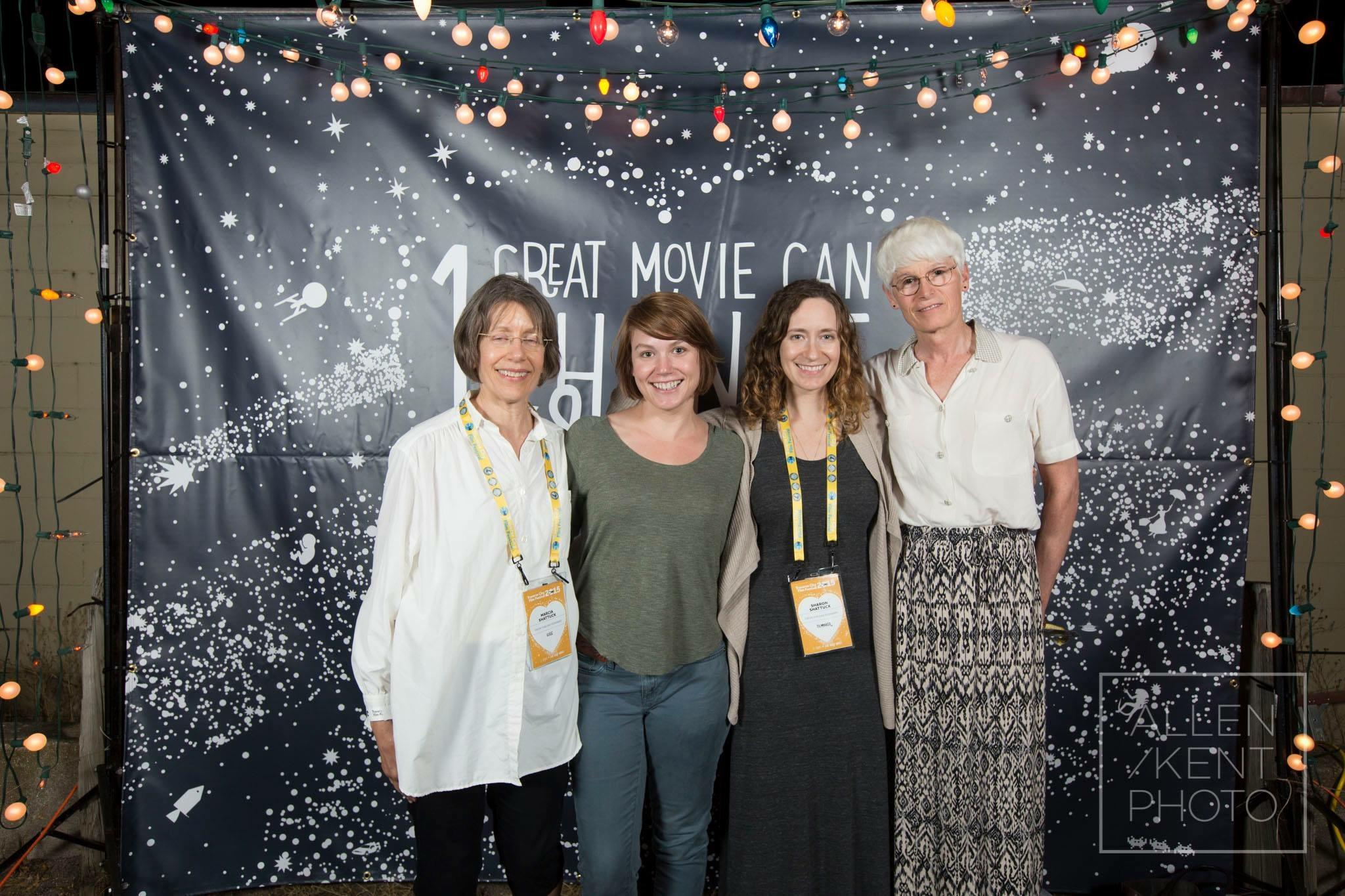 The Shattuck family at the Traverse City Film Festival screening of