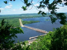 Lake Pepin as viewed from Alma, Wisconsin
