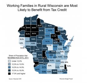 Map of EITC usage across Wisconsin
