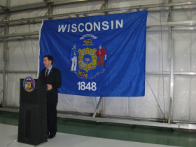 Governor Walker, speaking in Hartford