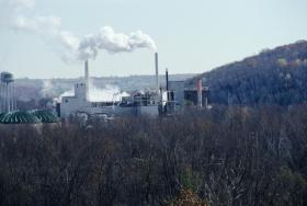Wausau Paper mill in Brokaw, Wisconsin