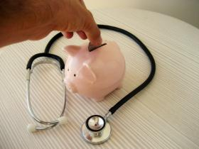 stethoscope, piggy bank, money, coin