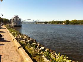 Mississippi river front in La Crosse, Wisconsin