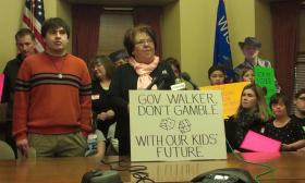 Special needs parents speak out against Governor Walker's voucher school budget.