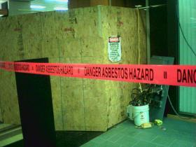 File: asbestos remediation under way