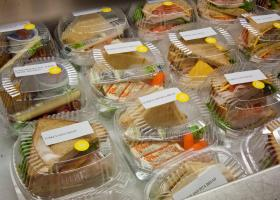 Sandwiches prepared for the National School Lunch Program at Washington-Lee High School in Arlington, VA.