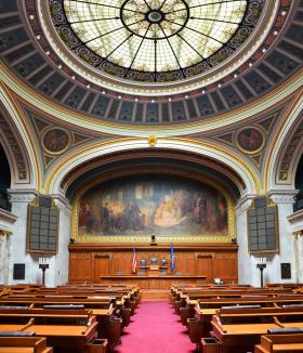 Wisconsin Assembly chamber in the state Capitol.