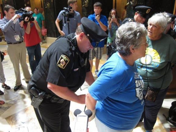 One of the 22 people arrested by Capitol Police today.