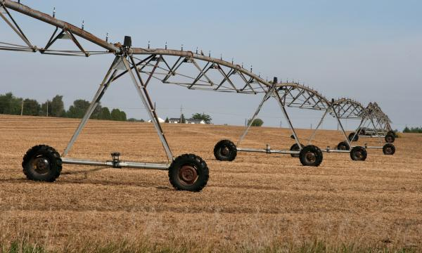 center pivot irrigation system near Janesville