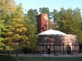 One of the beehive kilns at the Brickyard