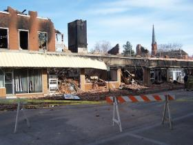 What's left of the Metropolitan Hotel in downtown Fort Madison.