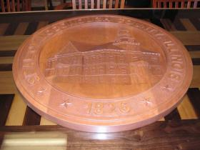 The hand carved wooden seal