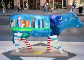 One of the Cows on Parade in Chicago