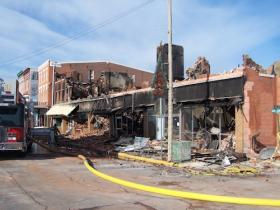 This is what remains of the historic Metropolitan Hotel in downtown Fort Madison.