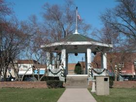 The gazebo in Rushville's Central Park