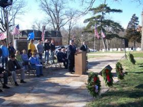 The 2011 Wreaths Across America Ceremony in Keokuk.
