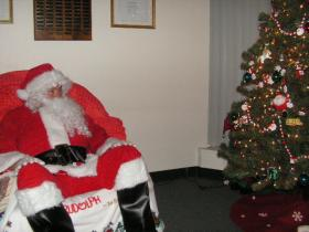 Tim Manock as Santa during the WIRC's Project Santa.