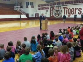 Governor Jay Nixon (D-MO) spoke to Canton R-V students about his goals for boosting education funding.