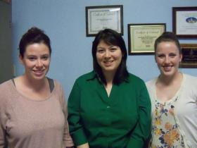(L-R) Rachael Patterson-Rahn, Melissa Calvillo, & Christine Van Berkum with the Lee County Health Department