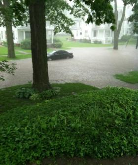 Flooding on North Third St in Monmouth