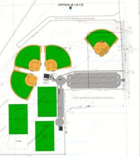 An early draft of the Fort Madison Sports Complex