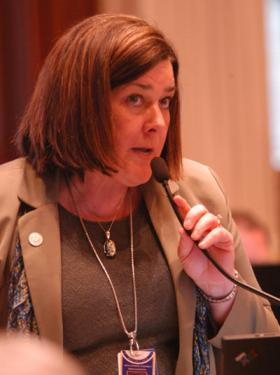 "Representative Jil Tracy calls the pension conference committee ""a last ditch effort."""