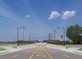 The city's concept of what the underpass might look like when completed.