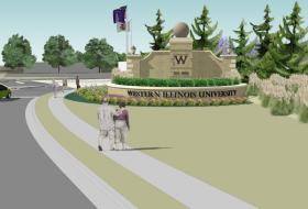 An artist's depiction of what the grand entrance monument will look like.