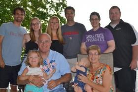 Matt Pauly, far left, and his family near Lake of the Ozarks