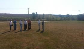 The Lee County Board of Supervisors tour the proposed site for the Lee County Health Department's new building.