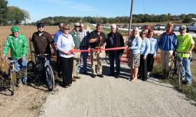 Ribbon-cutting for 10 mile stretch of Flint River Trail in central Des Moines County.