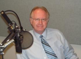 Tom Kilbride in the Tri States Public Radio news studio