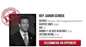 Schock is being criticized by a conservative group after his vote to end the partial federal shutdown and extend the debt ceiling.