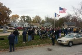 A large crowd attended the annual Veterans Day ceremony at the Keokuk Veterans Memorial.