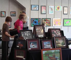 Work for sale at a previous WCIAC Art Market