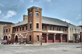 The fire house in downtown Burlington