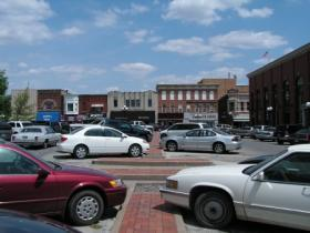 The two center rows of parking on Macomb's courthouse square will be reduced to one