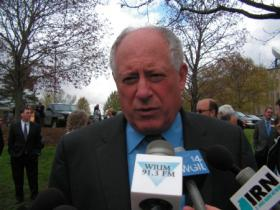 Governor Pat Quinn during a stop in Macomb in April 2011
