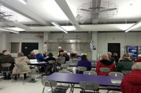 About 60 Republicans caucused at Keokuk High School on Tuesday night.