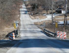 The bridge on Wigwam Hollow Rd as it looks today