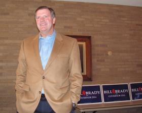 Bill Brady during Thursday's campaign appearance at WIU