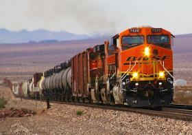 A BNSF freight train